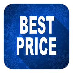 best price flat icon, christmas button