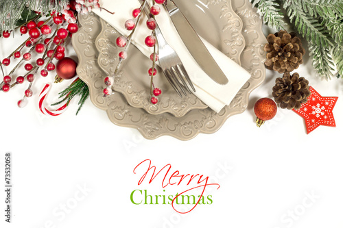 Foto op Aluminium Assortiment Christmas table setting