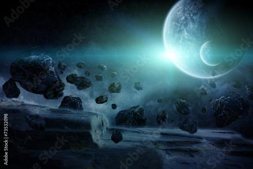 Leinwanddruck Bild Planet explosion apocalypse