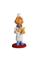 Statuette medical doctor woman