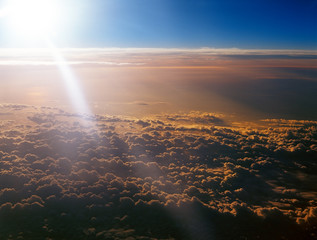 Above clouds.