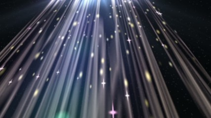 Particle 3D Animation of Sparkling Stars,Heaven Lights.