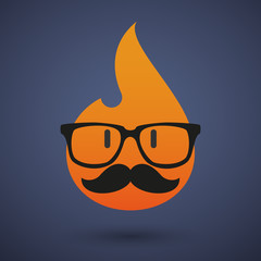 Hipster flame