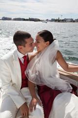 Mariage sur l'eau