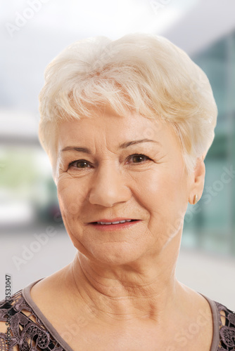 canvas print picture Portrait of an old, elderly lady.