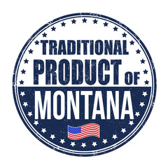 Traditional product of Montana stamp