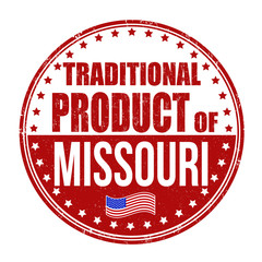 Traditional product of Missouri stamp