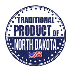 Traditional product of North Dakota stamp
