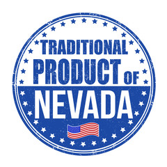 Traditional product of Nevada stamp