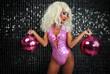 sexy female drag artist dancing - 73534011