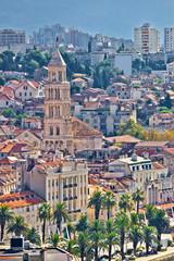 Old Split city center vertical view