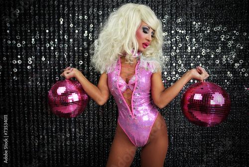 Femme sexy danse glisser artiste Poster