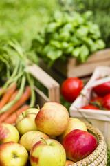 Apfel und Gemüse, apples and vegetables