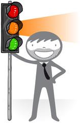 Attention feu orange