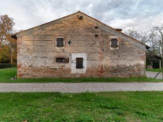 Parete in pietra vecchia casa