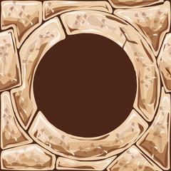 Round frame on stone seamless pattern