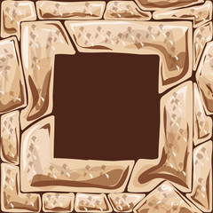 Square frame on stone seamless pattern