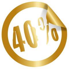 40 percent christmas icon