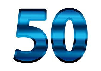 50 Metálico Azul