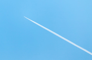 trace of the aircraft in the sky