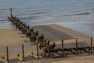 Sea Groynes and Shadows