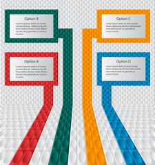 Colorful infographic of four banners