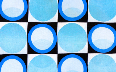 abstract fabric background with circles and squares