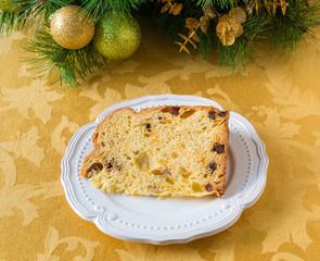 Christmas cake panettone and Christmas decorations9
