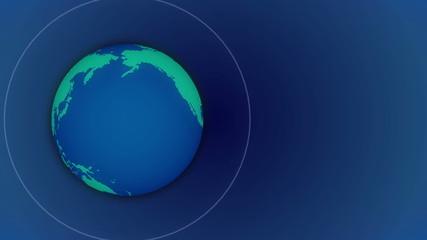 globe and radio wave, blue background, Loop