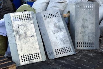 iron police shields