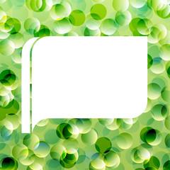 Speech bubble green ecology vector background