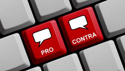 Diskussion online: Pro und Contra