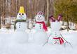 Leinwanddruck Bild - Snowman family