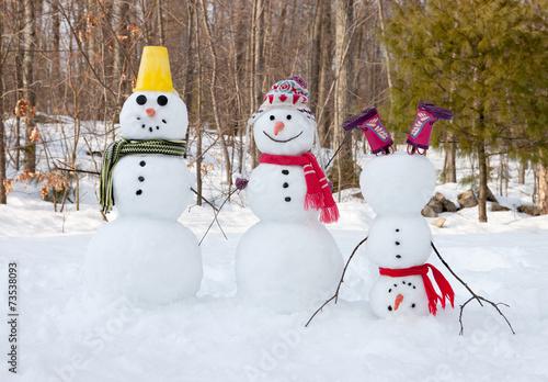 Snowman family - 73538093