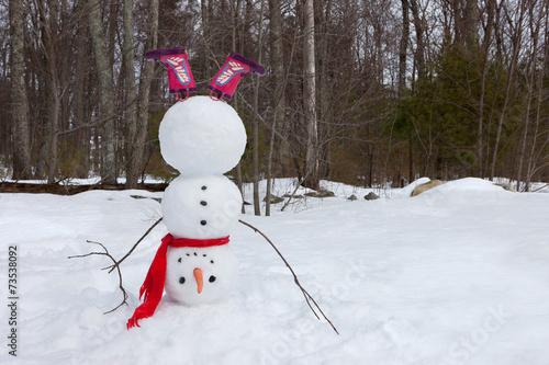 Upside down snowman Poster