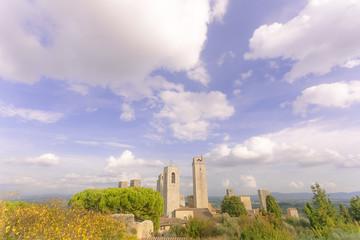 San gimignano landscape views, Tuscany, Italy sunny day