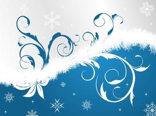 Illustration floral Christmas frame