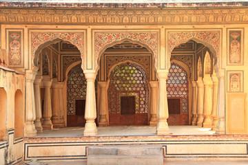 Interior of Hawa Mahal (Wind Palace) in Jaipur, Rajasthan, India