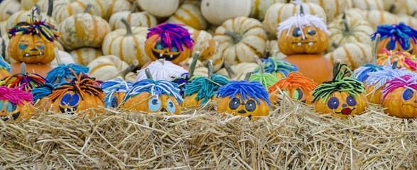Halloween - Kürbis als Figuren