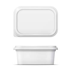 White margarine spread template.