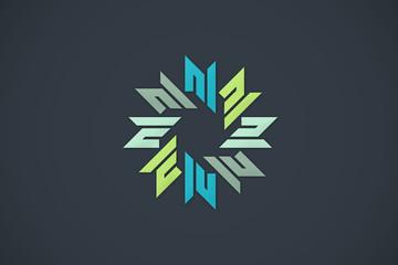 geometry abstract circular color design logo