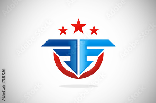 Army Star Vector Logo Identity Fly Army Star