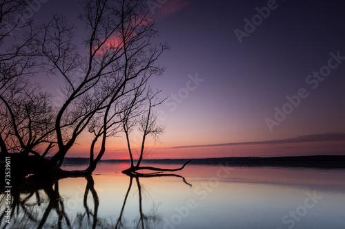 canvas print picture Märchenhafter Sonnenuntergang