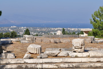Ancient site of Asclepeion at Kos island in Greece