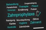 Zahnprophylaxe - Schild