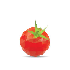 Tomato abstract isolated on a white backgrounds