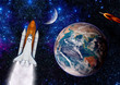 Space Shuttle Rocket Earth