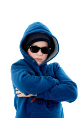 cool boy with sunglasses cap