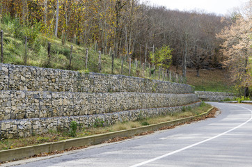 retaining wall gabion