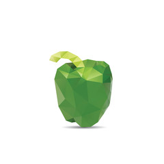 Green pepper abstract isolated on a white backgrounds